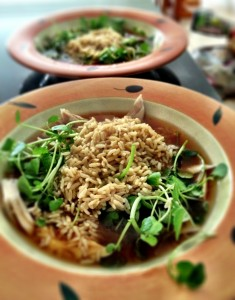 I made Vicki's recipe today - just substituting brown rice for wild. Delicious!