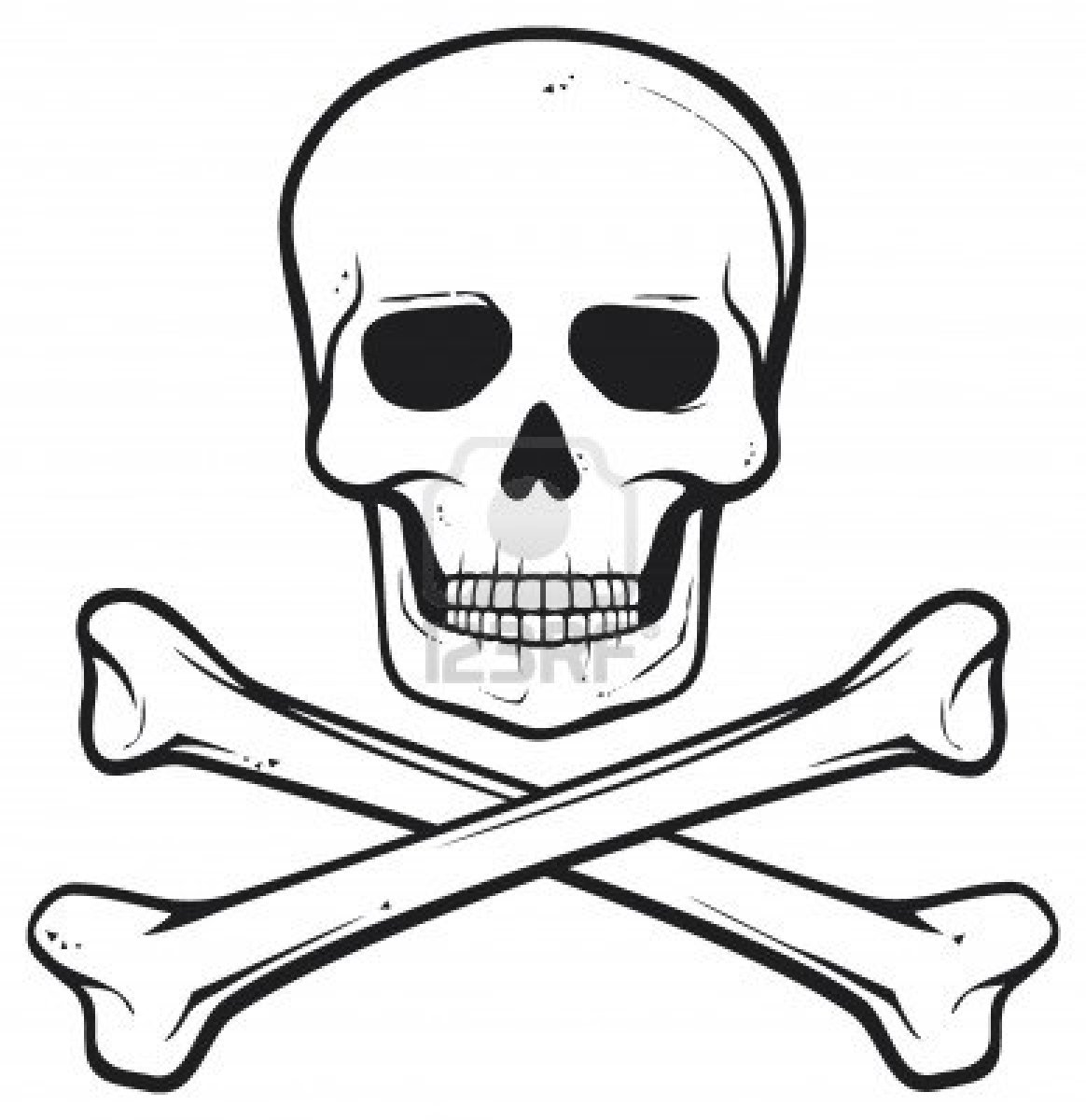 Pirate Skull And Bones Clip Art Pictures