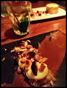 desserts at Mazi - probably the most unusual i have ever tasted...