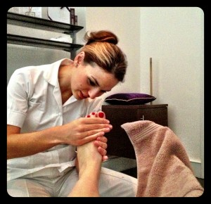 a blissful foot massage by Angela at Margaret Dabbs