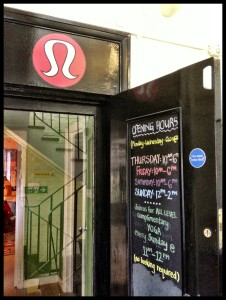 open door but photo ban at Lululemon