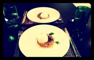 swede dumplings, barley, vegetable broth and hogweed @roganic