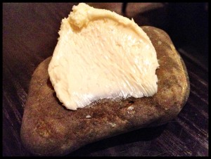 butter on stone