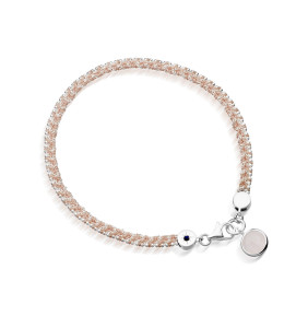 Breast Cancer Campaign bracelet - £110, with 20% of proceeds going directly to charity