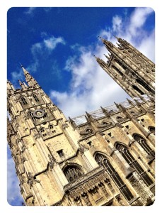 our token culture was dragging the posse around Canterbury Cathedral