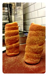 2 chimney cakes straight from the oven