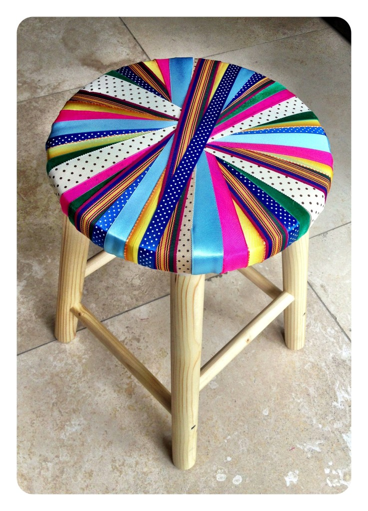 our finished stool.  made with a lot of LOVE!