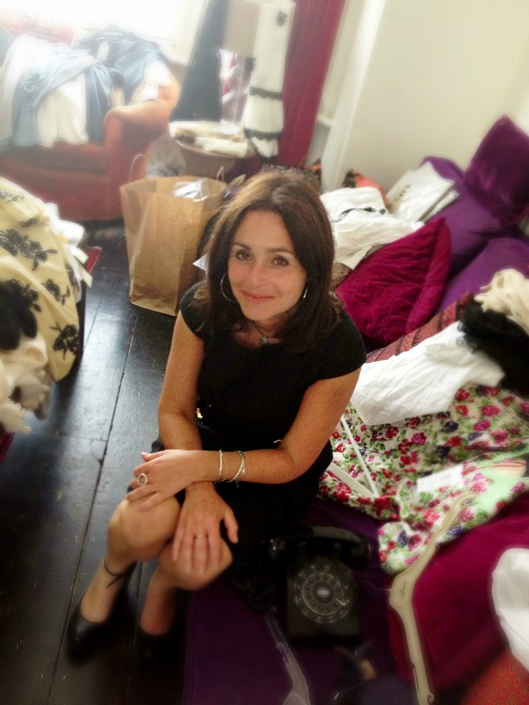 Michelle in her home - surrounded by summer bargains