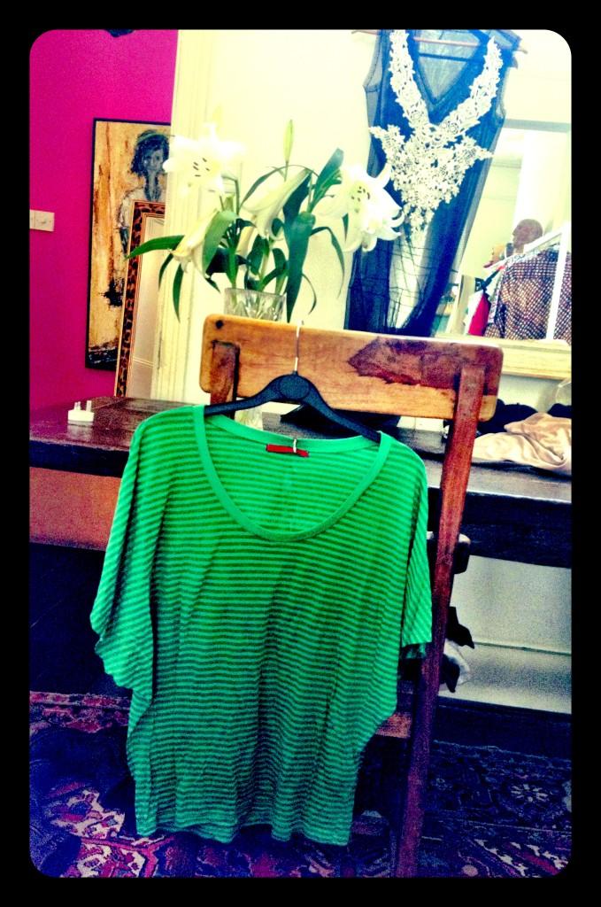 Velvet green T