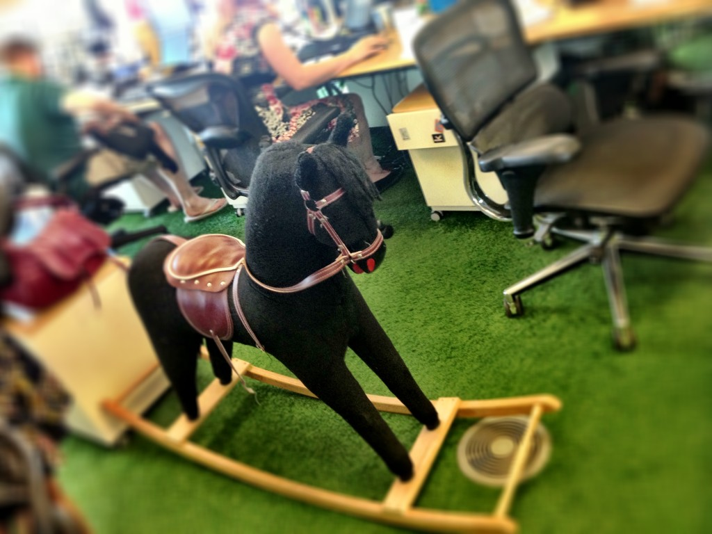 office rocking horse
