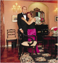 Alan and Valerie - dressed for dinner