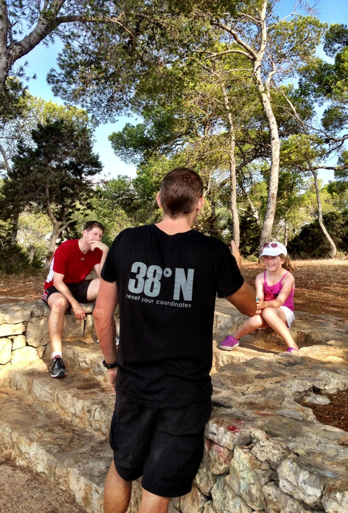 James briefs the family pre circuits session