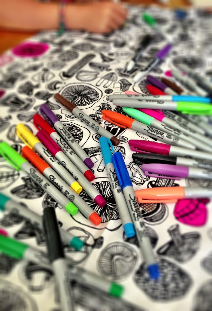 Sharpies - for naming, colouring and everything in between