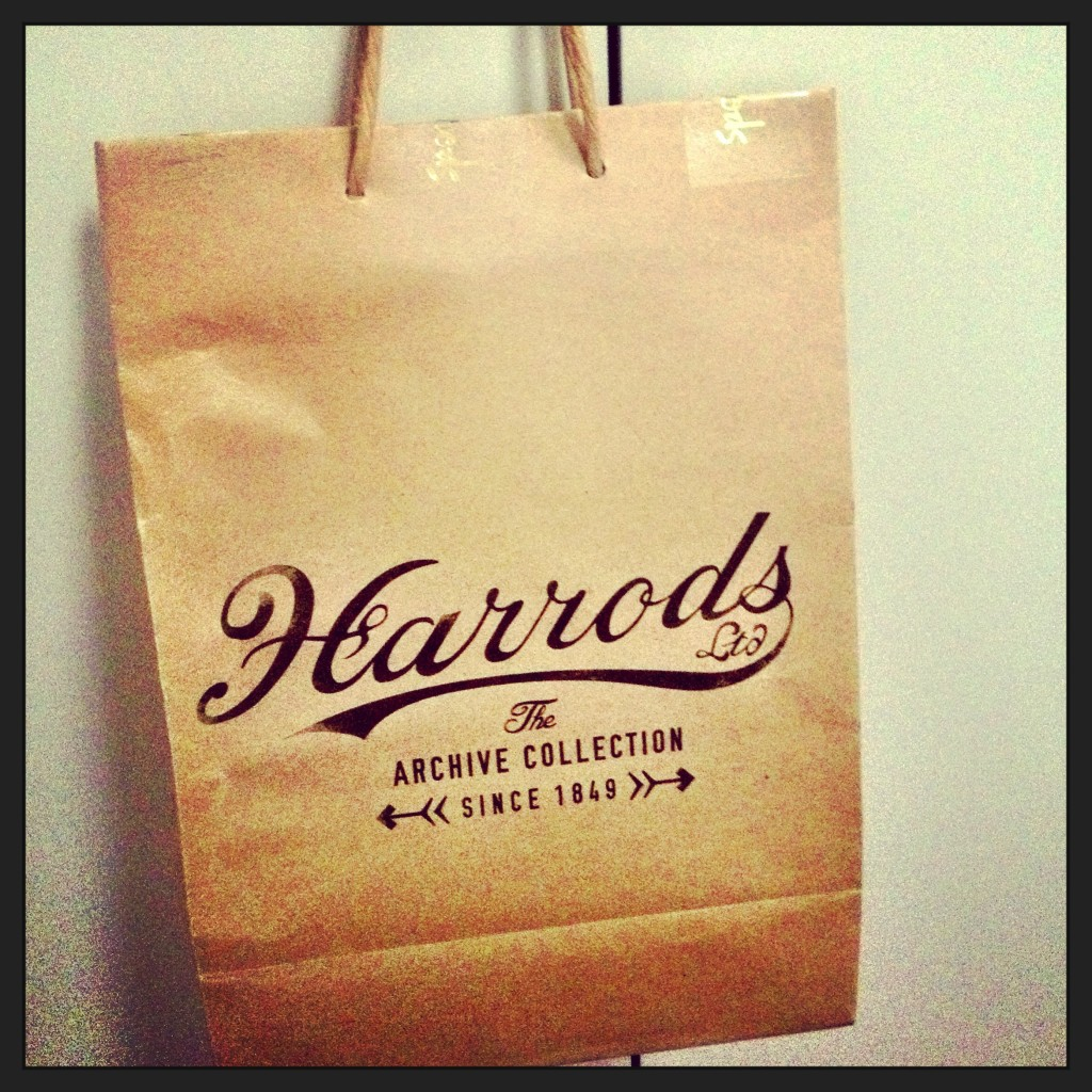 my Harrods Food Hall parcel - vintage style