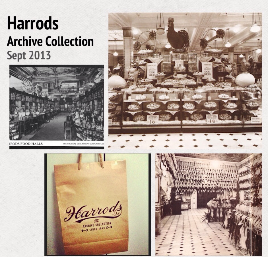 a glimpse of Harrods Food Halls in days of old