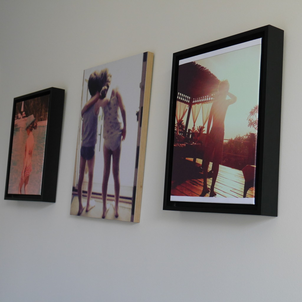 up on the bedroom wall: 2 snapbox framed canvases. STUNNING!