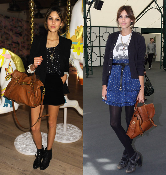 Alexa with the Mulberry ALEXA bag