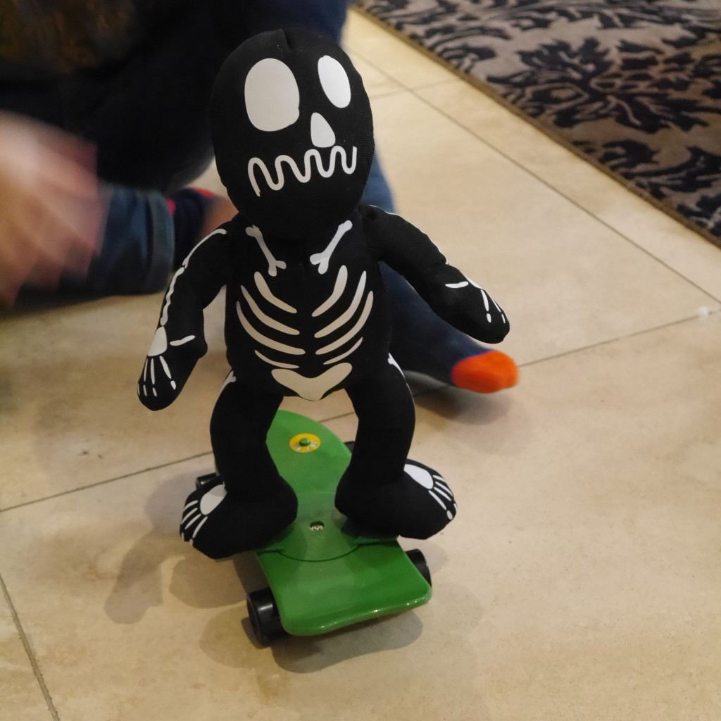 our skateboarding skeleton from Sainsbury's £10 (see my Instagram feed for full effect!)