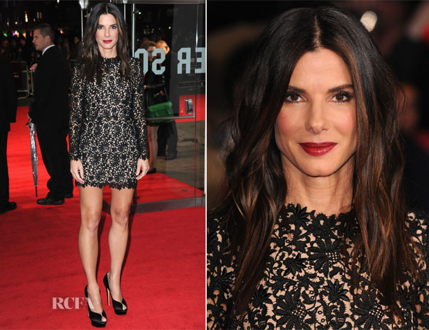 Sandra Bullock at the premiere of Gravity