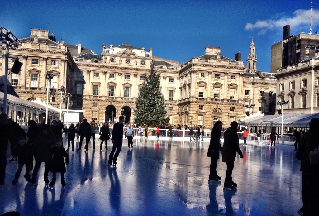 SKATE at Somerset House on the Strand.
