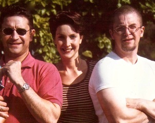 Claudia with her brothers:  Paul (right) and Mark (left)