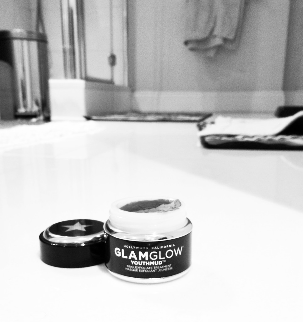 GLAMGLOW on my bathroom floor...