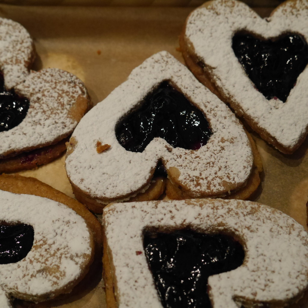 Buckwheat Linzer Heart Cookies