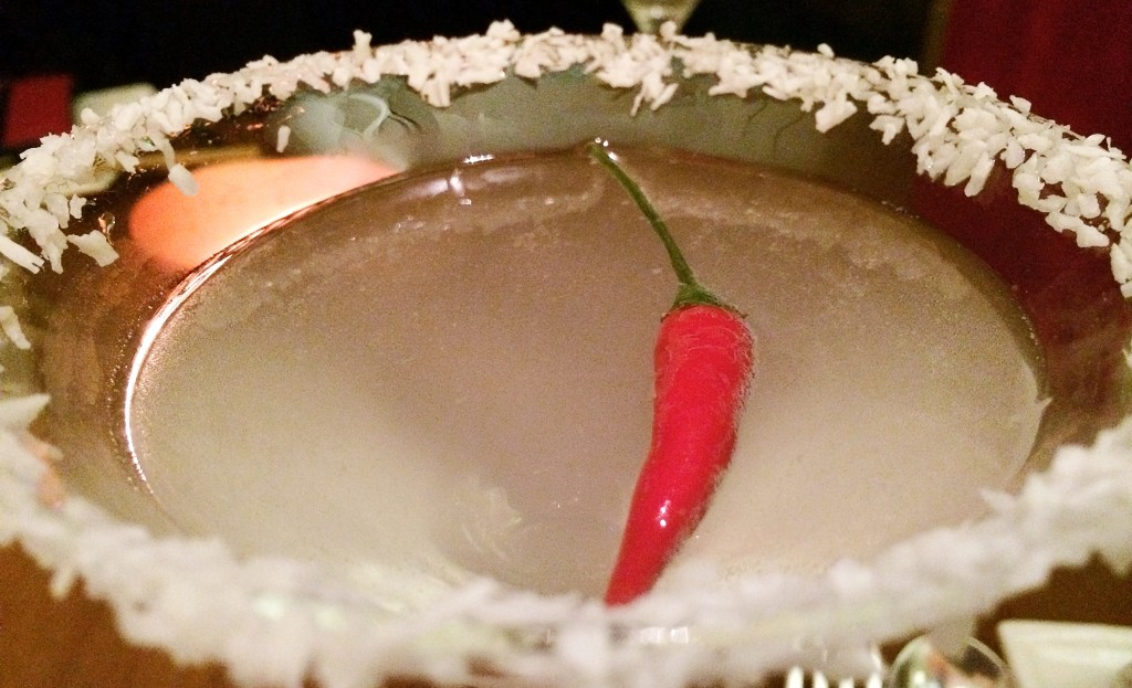 Ho'rny Devil: lemongrass vodka + Vietnamese devil's chilli + fresh coconut £8