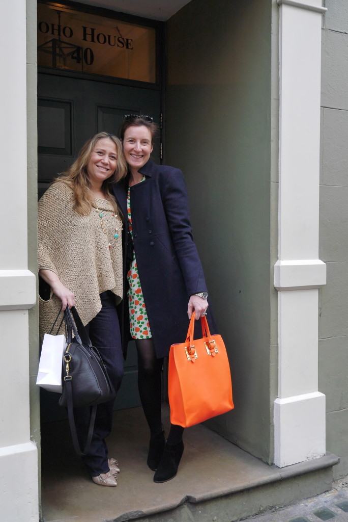 Indie Lee and Liz McCarthy outside Soho House after a VERY long lunch...