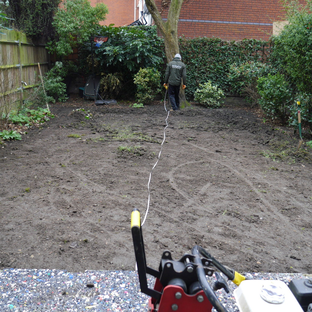 step one - all the grass is removed