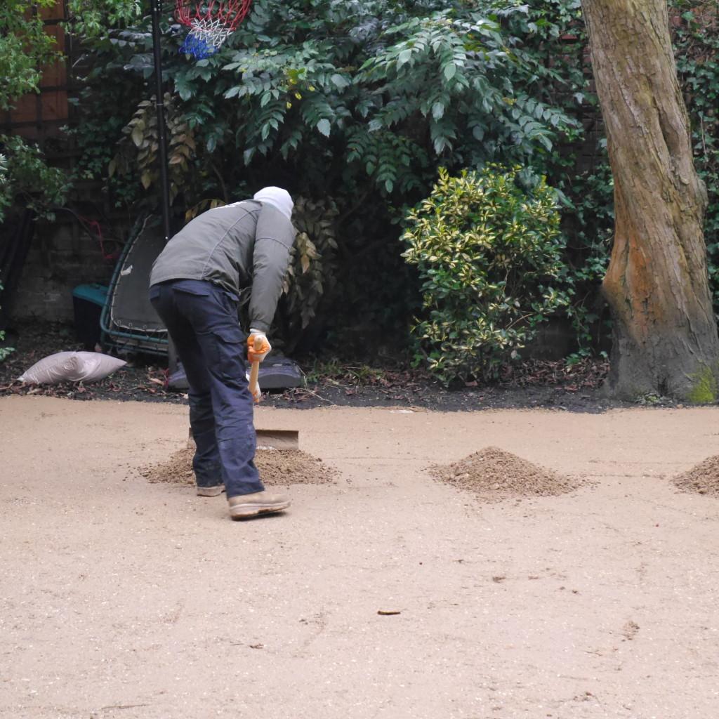 step 2:  full of sand