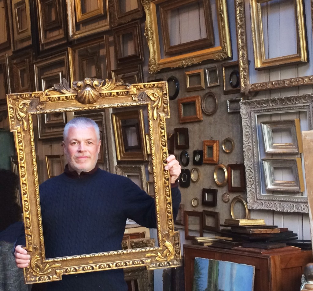 David Lacy in his family owned shop, Lacy Gallery