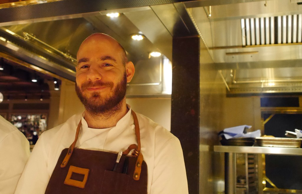 Dale Osborne in the kitchen at Chiltern Firehouse