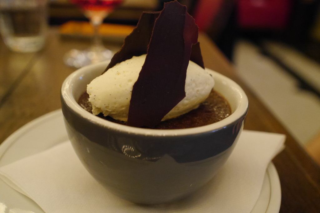 Katy's Valrhona chocolate pot with sweet cream