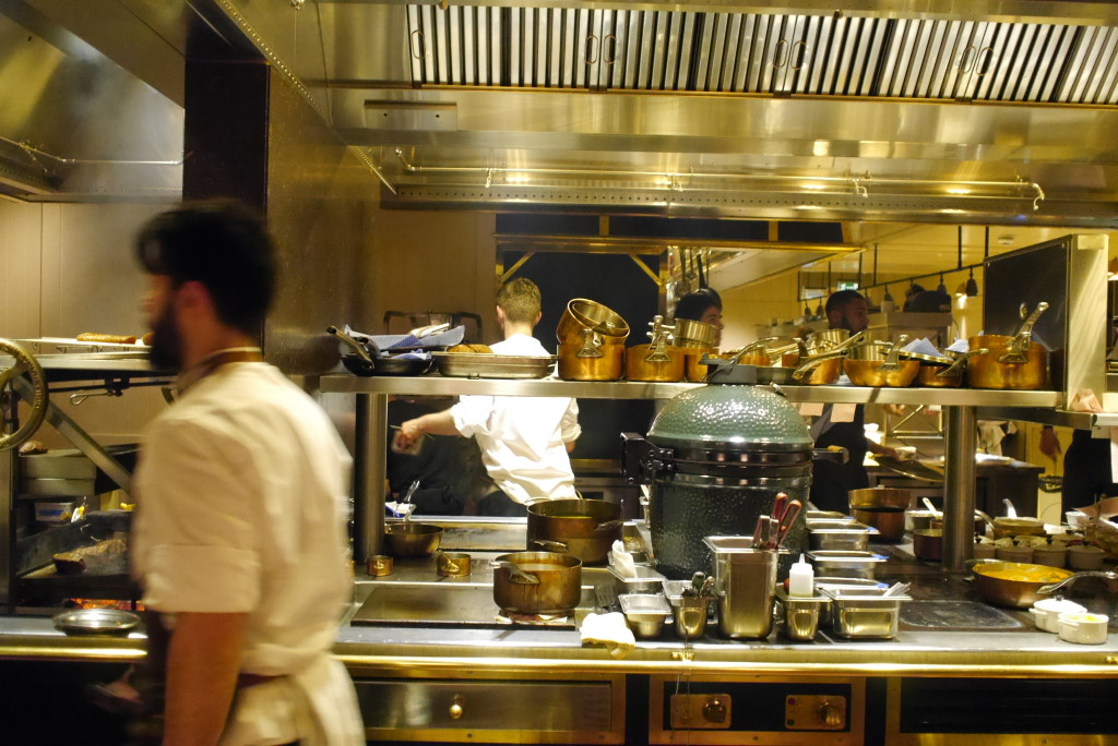 kitchen view at the counter