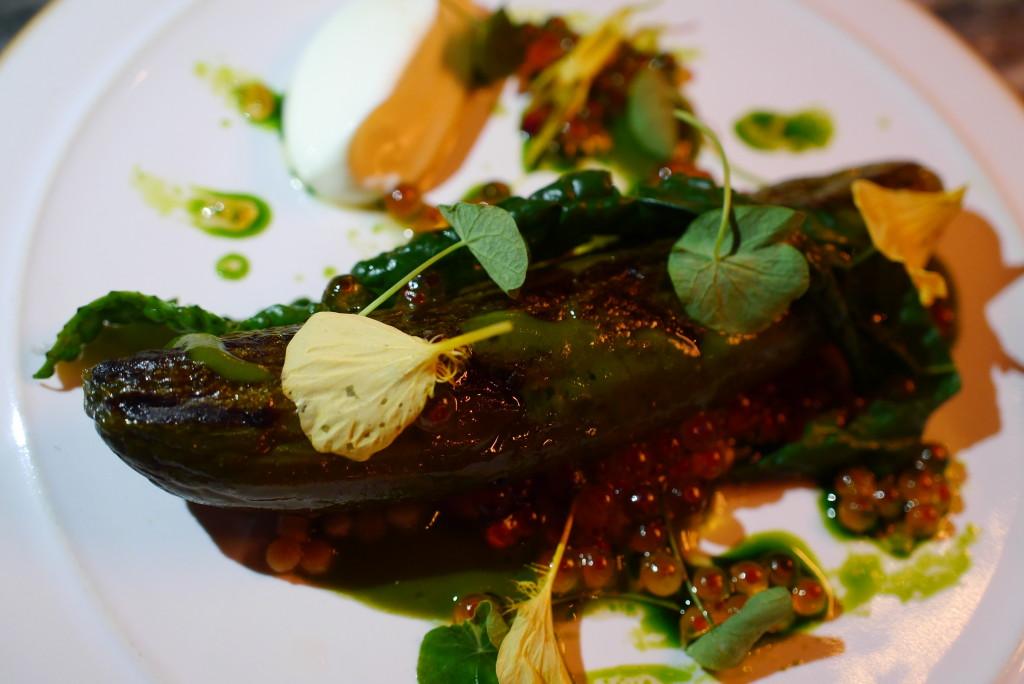 roast Lebanese cucumber, seaweed fregola, creme fraiche and dill £9