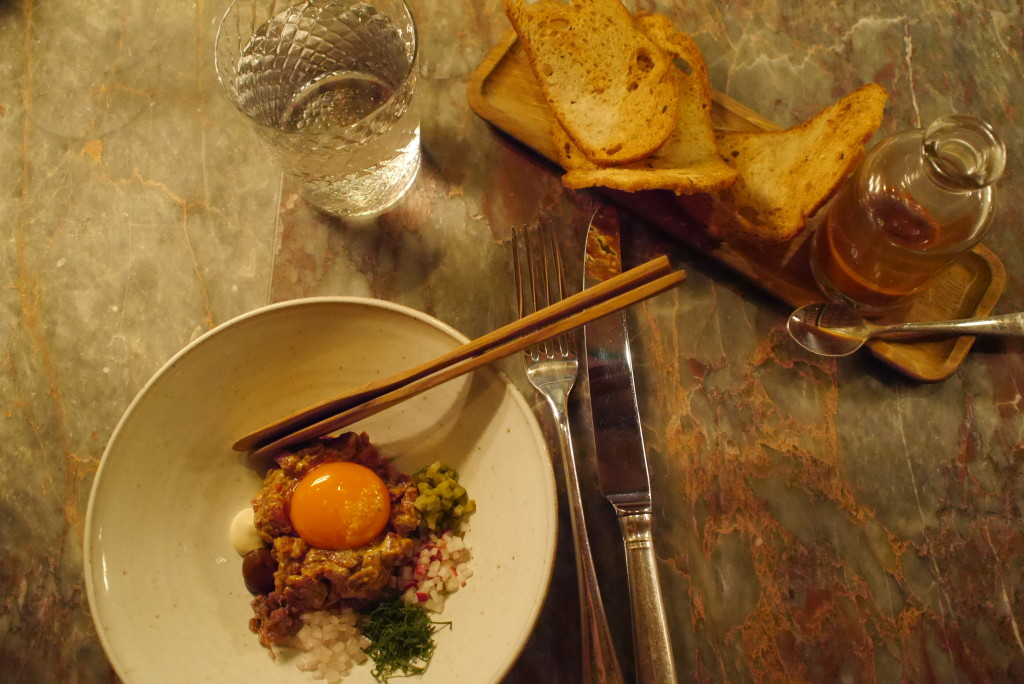 Steak Tartare at Chiltern Firehouse