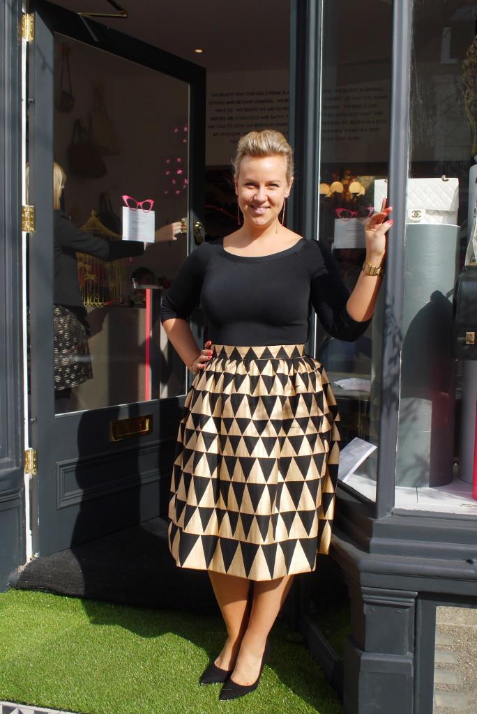 Tara Nash outside her shop