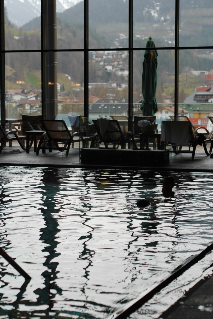 the fabulous pool in the Sky Spa, Hotel Bergland