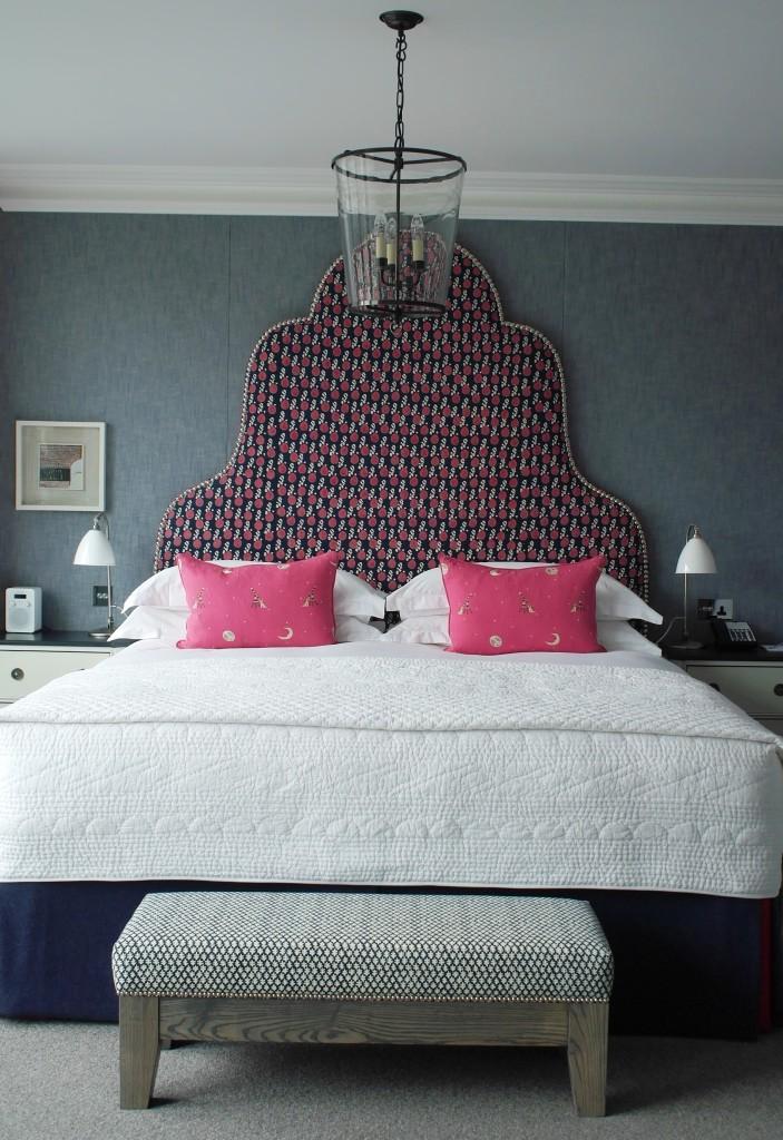 the headboard/bedroom I've chosen at Ham Yard Hotel, Soho
