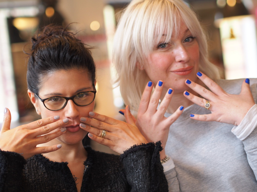 Pooja and Emma - colourful nails